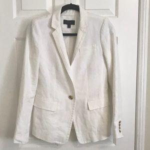 Jcrew white linen blazer